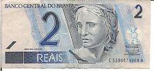 BRAZIL,2 REAIS, P#269, ND(2001)