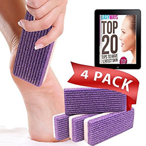Love Pumice 2 in 1 Pumice Stone for Feet, Hands and Body, Pack of 4
