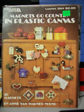 MAGNETS GO COUNTRY IN PLASTIC CANVAS LEAFLET 364 LEISURE ARTS PATTERNS 20 DESIGN