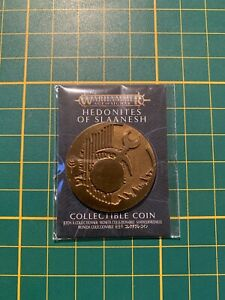 Warhammer Age of Sigmar Hedonites of Slaanesh Collectible Coin New Rare OOP