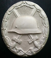 ✚6973✚ German Wound Badge SILVER post WW2 1957 pattern Verwundetenabzeichen ST&L