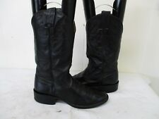 NOCONA Black Leather Cowboy Boots Womens Size 6 B Style 3001 USA