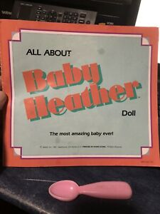 Baby Heather Doll User Manual Original 1987 Mattel ONLY MANUAL NO DOLL INCLUDED!