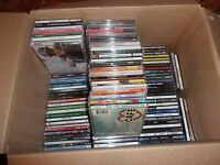 Lot of 100 Used ASSORTED CDs in jewel cases - 100 Bulk MISC CDs- Wholesale CDs