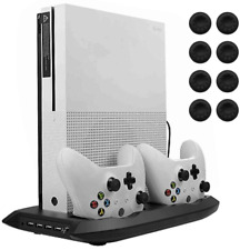Xbox One S Vertical Stand Cooling Fan, Dual Charging Station, Controller Charger