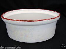 Vintage Fraunfelter White Pearl Lustre 1 Quart Casserole Dish <Ohio>