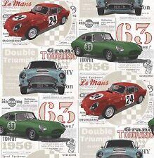 Fine Decor - FD40283 - Vintage Racing Cars Wallpaper - Multicoloured!