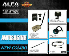 Combo Alfa AWUS051NH Dual Band USB Wireless N 802.11a/b/g/n WiFi Adapter