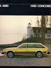 American Motors AMC Concord 1979-80 Export Markets Foldout Sales Brochure