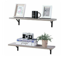 2 Floating Shelves Wall Mounted Board Sturdy Durable Rustic Indoor SUPERJARE New