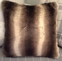A 20 Inch Cushion Cover In Laura Ashley Brown Very Soft Fur Fabric