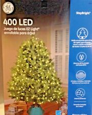 Christmas Tree Wrap Lights 400 LED White Indoor Outdoor GE New in Box