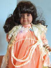 "Seymour Mann Connoisseur Collection doll; ""Virginia""peach dress, 15"" Coa"