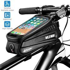 Marco De Bicicleta Bolso Impermeable Bicicleta Soporte para Teléfono con pantalla táctil & bolsa de almacenamiento de gran tamaño