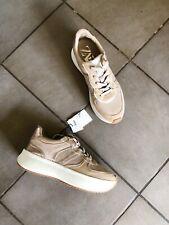 Zara Natural Beige Metalic Mesh Sneakers Trainers UK3 EU36 US6 # T01