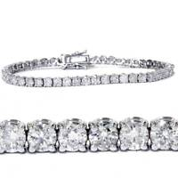 7.00 Ct Round HUGE Natural Diamond Tennis Bracelet 14K White Gold
