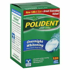 Polident Antibacterial Overnight Denture Cleanser Triplemint -120 Tablets