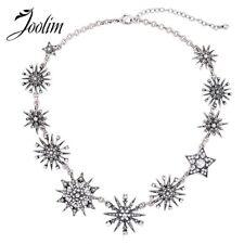 JOOLIM Jewelry Wholesale/Gorgeous Trendy Starburst Collar Necklace Snowflake