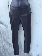 BbDakota Leather Like Pant With Pointe Details Size 28 Black NWT