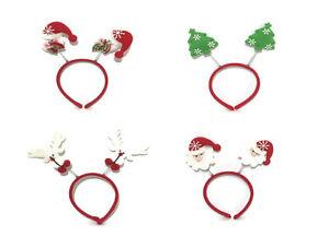 Christmas Novelty Headband Mini Santa Reindeer Snowman Xmas Fancy Dress Hairband