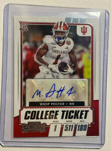 2021 Panini Contenders Draft WHOP PHILYOR Autograph college ticket
