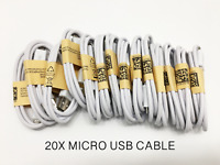 20x Lot of Micro USB Cable Charger Cord Wholesale Bulk Android Samsung Galaxy