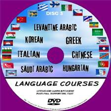 7 LANGUAGE COURSES DVD ROM EASY LEARN SYSTEM AUDIO &TEXT SAUDI ARABIC CHINESE 3