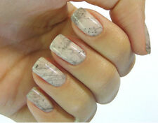 White Marble Nail Art Water Transfers Stickers Easy to apply Quality Nail Wraps