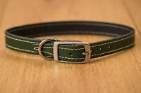 LEATHER DOG COLLARS AND LEADS VARIOUS SIZES AND COLOURS MADE IN THE UK