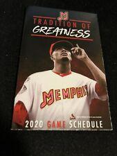 2020 Memphis Redbirds Baseball Pocket Schedule Cardinals Farm Team