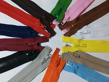 "18 Colours-Chunky Teeth Zip Heavy Duty Zipper Open End Various Lengths 8""- 29.5"""
