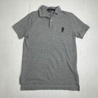 Polo Ralph Lauren Custom Fit Bear Gray Polo Limited Edition Shirt Men's Size M