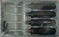Snap-on Pick Set ASA204B *BLACK HARD HANDLES* NEW & SEALED! *HARD HANDLE PICKS*