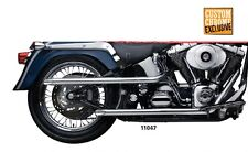 "SANTEE 1 3/4"" SHOTGUN DRAG PIPES EXHAUST HARLEY DAVIDSON SOFTAIL 2007-2011"