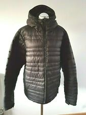 Jack Wolfskin Brown Fibercloud Quilted Mens Jacket 44/46 Chest L XL Hooded