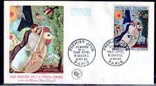 FRANCE FDC - 1398 1 TABLEAU CHAGALL MARIES DE LA TOUR EIFFEL 1963