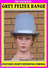 Top Hat grey for adult costume fancy dress magician party wedding mad hatter