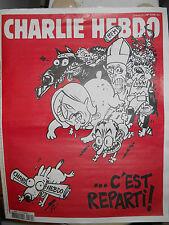 """CHARLIE HEBDO 25 FEVRIER 2015 COLLECTOR #1179 """"...C'EST REPARTI ! """"Voir annonce)"""