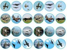 24 Avro Lancaster bomber ww2 fairy cupcake toppers birthdays party edible paper