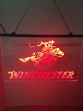 Winchester Super Bright Led Neon Light Sign Man Cave Game Room Garage Shop