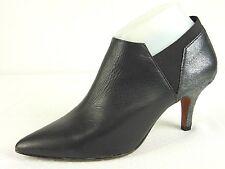 Donald J Pliner Boots Womens 7.5 Tillie Ankle Bootie Black Silver Pointed Toe