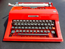 Red Mercedes / Olivetti Vintage portable typewriter with case