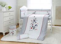 7pcs Baby Crib Bedding set Bumpers Quilt Pillow Cot Sheet Cotton AU003