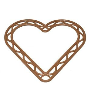 8 INCH BROWN PLASTIC HEART SHAPED WREATH FRAME DECORATION FLORISTRY WEDDINGS