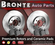 2006 2007 2008 for Toyota Yaris Brake Rotors and Ceramic Pads w/R-Drum Front