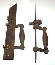 lot of 9 vintage drawer pull handles 70s 1976 metal brown key lock Amerock 179-1