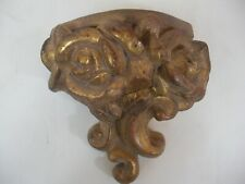 Gold Gilded Wall Pocket Sconce Roses & Rococo French Italian Grand Tour Style