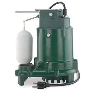 Zoeller Submersible Sump Pump 1/3HP 48 GPH Cast Iron Vertical Float Switch AC