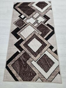 Rug BROWN BEIGE 80 x 150 cm Soft Touch Living Room Quality TURKISH FLOOR RUGS