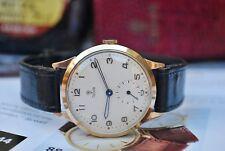 Rolex Tudor 9ct oro Gents Orologio Vintage c1950's di British Rail-REVISIONATA-mozzafiato!